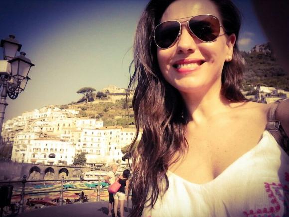 Flavia Pintos de vacaciones.