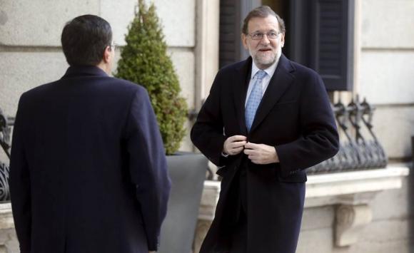 Llegada al Congreso del presidente de España, Mariano Rajoy. Foto: Reuters.