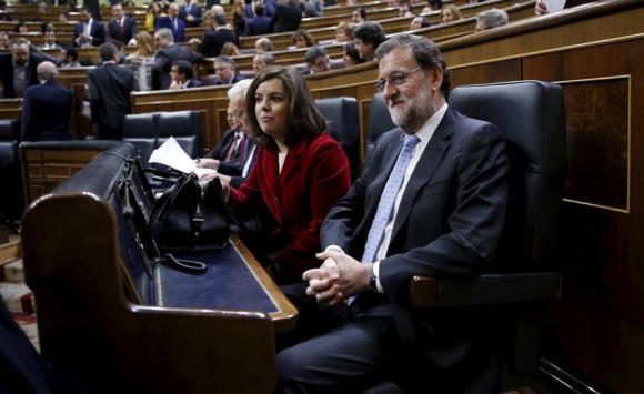 Mariano Rajoy y Soraya Sáenz de Santamaría, presidente y vicepresidenta de España. Foto: Reuters.