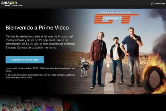 Amazon Prime Video ya está disponible en Uruguay. Foto: Captura web.