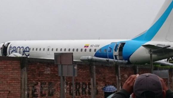 Un avión de Tame debió aterrizar de emergencia en Ecuador. Foto: Twitter @marcelordonezr