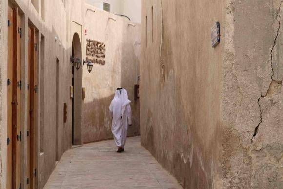 El barrio histórico Al Fahidi conserva las casas originarias de Dubái. Foto: DTCM