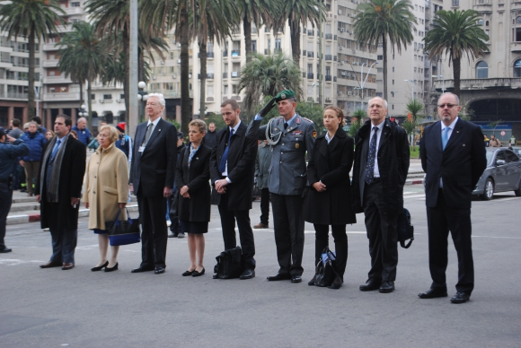 María Böhmer, Embajador de Alemania Heinz Peters, Lieselore Cyrus, Johannes Sturm, Gerhard Klaffus, Esther Uleer, Peter Zingraf, Alberto Guani.
