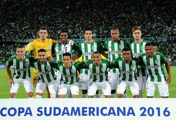 Plantel de Atlético Nacional en la Copa Sudamericana 2016