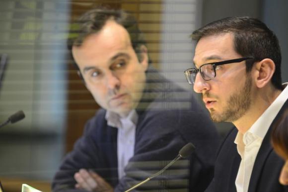 Convocante: el edil Diego Rodríguez Salomón (derecha). Foto: Gerardo Pérez