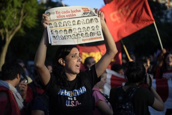 Protestas por visita de Obama en Argentina. Foto: AFP
