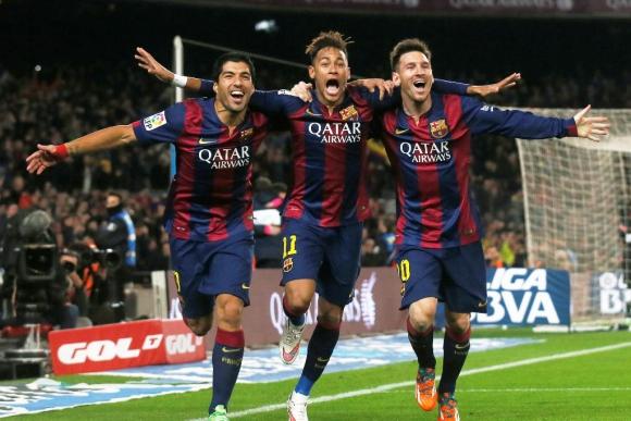 Suárez, Neymar y Messi: el tridente letal. Foto: Reuters