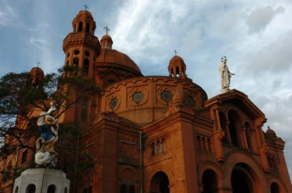 El  Santuario Nacional del Sagrado Corazón de Jesús, en el Cerrito (Foto: Ariel Colmegna)