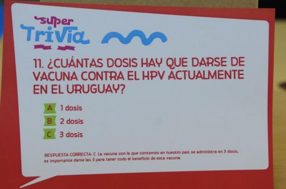 El Súper Trivia hará énfasis en la vacuna contra el HPV. Foto: M. Bonjour