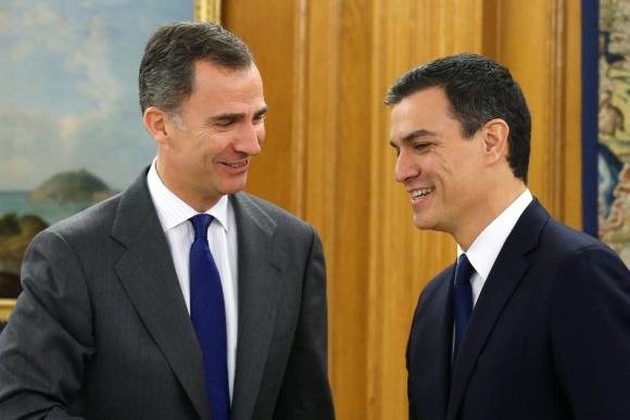 Pedro Sánchez, reunido con el rey Felipe VI. Foto: EFE