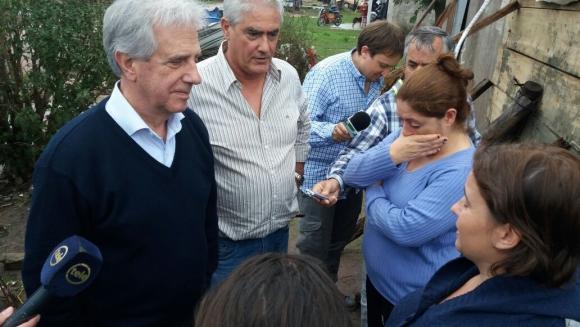 Tabaré Vázquez en Dolores. Foto: Daniel Rojas