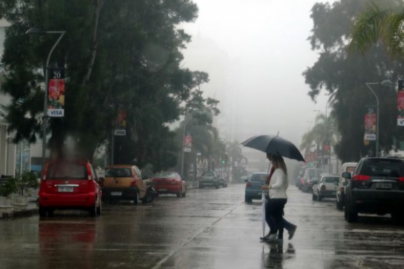 Punta del Este tuvo una jornada de lluvia intensa Foto: Ricardo Figueredo