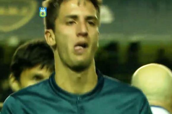 Bentancur se fue llorando. Foto: captura TV.