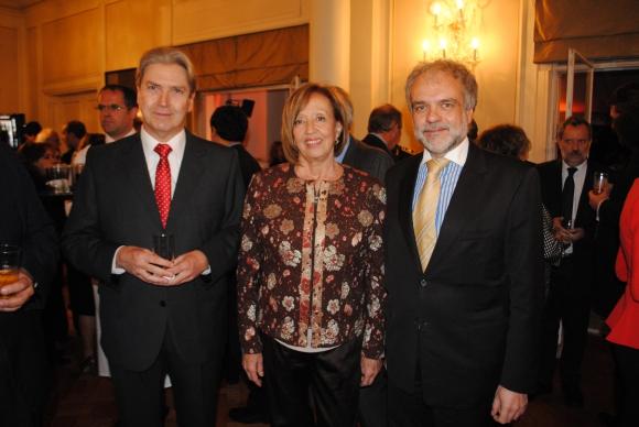 Ope Pasquet, María Julia Muñoz, José Luis Cancela.