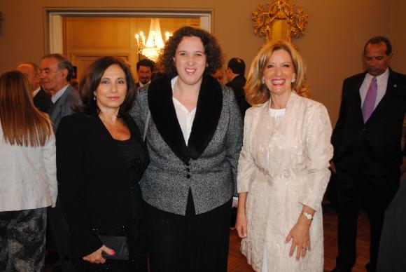Cristina Itté, embajador de Israel Nina Ben-Ami, Patricia Damiani.