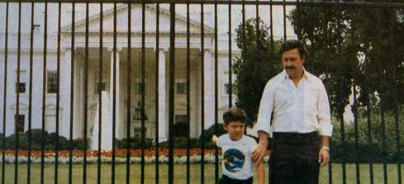 Pablo Escobar y su hijo Juan Pablo.