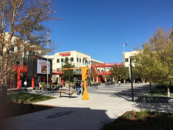 Facebook. Una vista del campus de la tecnológica en Menlo Park. (Foto: Andrés Curbelo)