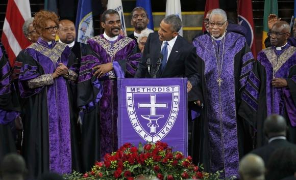 Obama rinde homenaje a reverendo asesinado en Charleston Foto: Reuters
