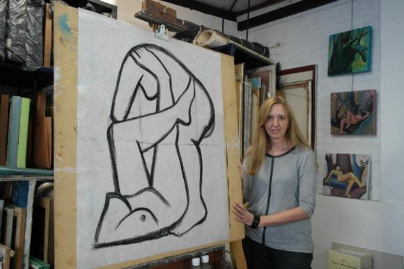 Anna Rank es artista plástica y vive en Buenos Aires desde hace 15 años