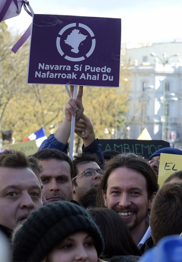 El líder del partido se vio satisfecho con la enorme convocatoria de la marcha. Foto: AFP.