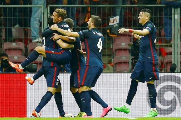Griezmann hizo dos goles para el Atlético en la primera mitad. Foto: Reuters.