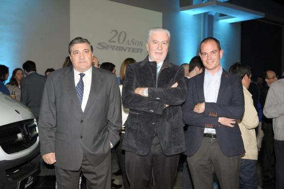 Gustavo Quartino, Carlos Bustin y Marcos Pozo
