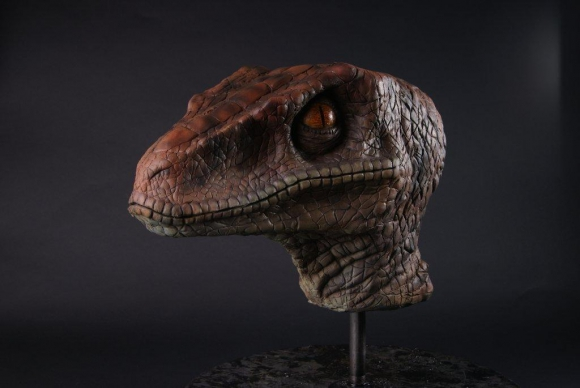 Cabeza de velociraptor.