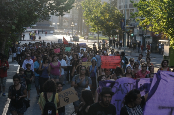 Movilización contra la violencia doméstica. Foto: Agustín Martínez