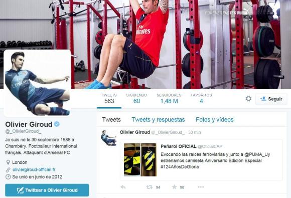 Tweet de Olivier Giroud