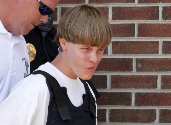 Dylann Roof en el momento del arresto. Foto: Reuters