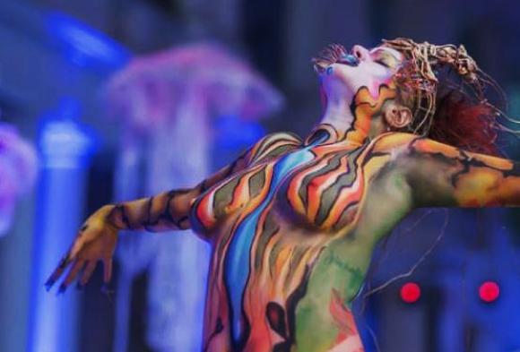 Concurso de Body Painting. Foto: gentileza Mariela Gotuzzo