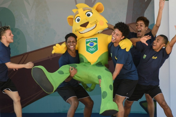 Así fue la presentación de Ginga, la mascota de los JJOO de Rio 2016. Foto: AFP