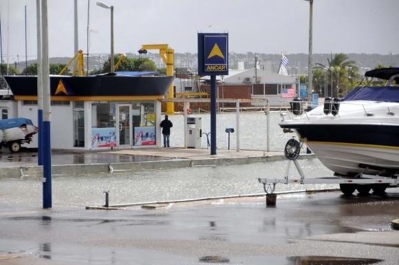 Inundaciones en Punta del Este. Foto: Ricardo Figueredo.