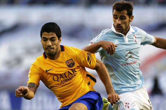 Suárez en  Celta-Barcelona. Foto: EFE