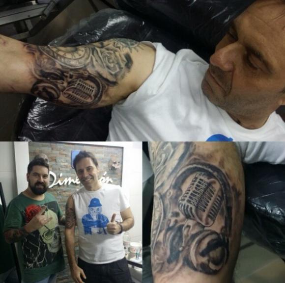 El excéntrico tatuaje de Moar. Foto: Instagram @roberto_moar