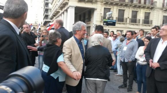 Vázquez y Sendic participaron del acto. Foto: Valeria Gil