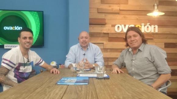 Fabián Estoyanoff visitó Ovación TV