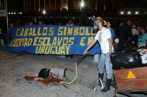 Protesta contra el maltrato animal. Foto: Agustín Martínez