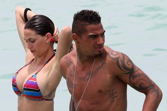 Melissa Satta y Kevin Prince Boateng.