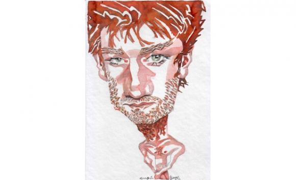 Daniel Hendler, dibujo de Ombú