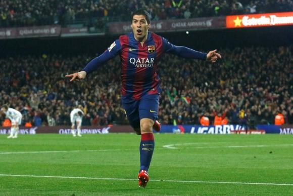 Luis Suárez celebra el gol de la victoria ante Real Madrid. Foto: Reuters.