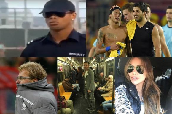 El lujo de Neymar a Suárez, la pareja de Ospina, Ronaldinho policía y más