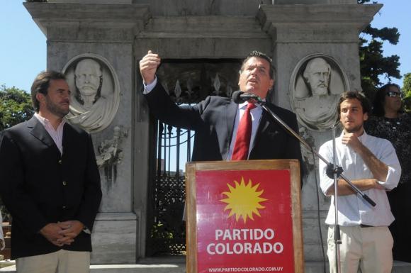 Bordaberry dijo que hay que poner al país antes que los hombres. Foto: A. Colmegna
