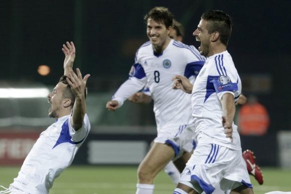Vitaioli hizo el histórico gol de San Marino. Foto: Reuters.
