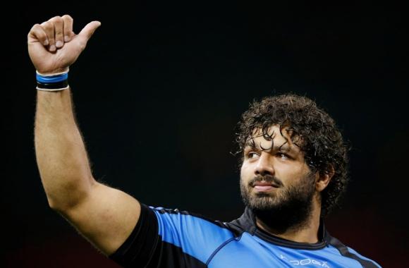 Los Teros cayeron ante Gales en el debut en el Mundial de Rugby. Foto: AFP