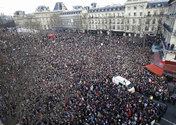 Histórica marcha en París contra el terrorismo. Foto: Reuters