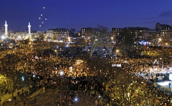 La marcha reunió a entre un millón y medio y dos millones de personas. Foto: Reuters
