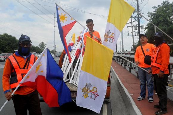 Miles de fieles en Asia preparan la bienvenida al papa Francisco. Foto: AFP