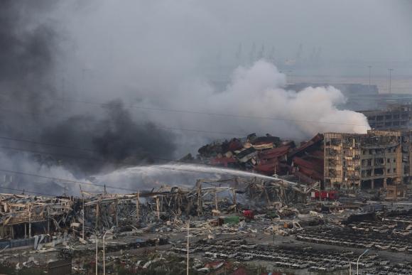 Hay al menos 42 muertos por la explosión en China. Foto: EFE