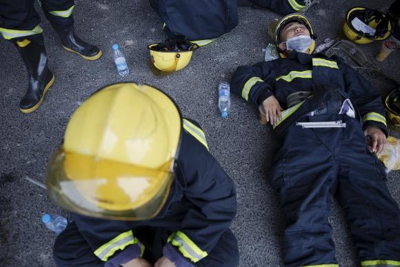 Hay al menos 50 muertos por la explosión en China. Foto: Reuters